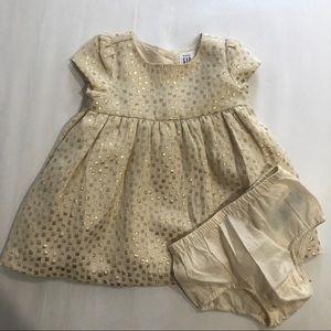 Baby gap gold dress 3-6 months